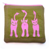 Pink Kitties Pouch